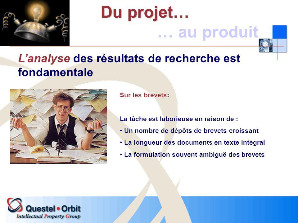 Sur les brevets: La tâche est laborieuse en raison de : Un nombre de dépôts de brevets croissant La longueur des documents en texte intégral La formul