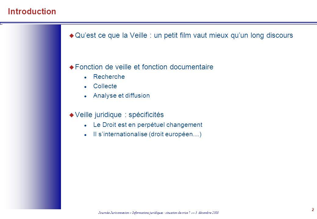 Journée Juriconnexion « Informations juridiques : situation de crise .