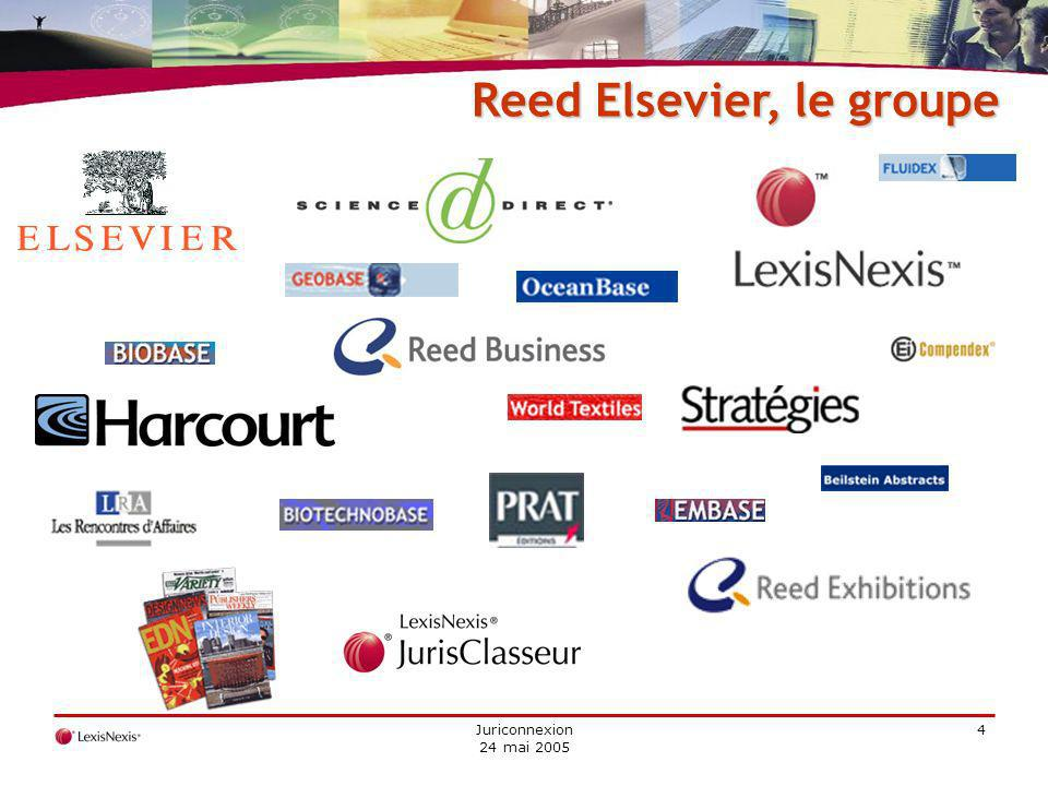Juriconnexion 24 mai 2005 4 Reed Elsevier, le groupe