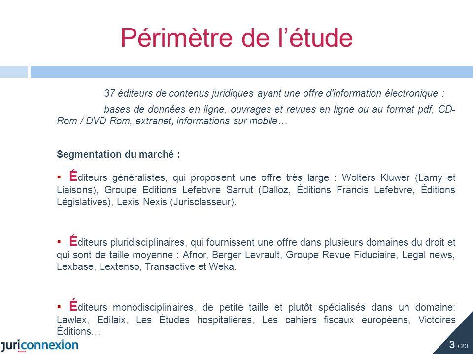 37 éditeurs de contenus juridiques ayant une offre dinformation électronique : bases de données en ligne, ouvrages et revues en ligne ou au format pdf