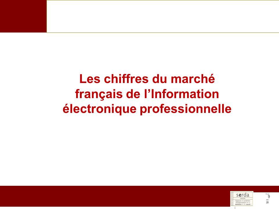 Page 26 9 Les chiffres du marché français de lInformation électronique professionnelle