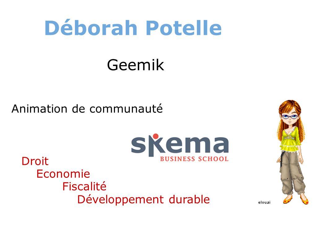 Déborah Potelle Geemik Droit Economie Fiscalité Développement durable Animation de communauté