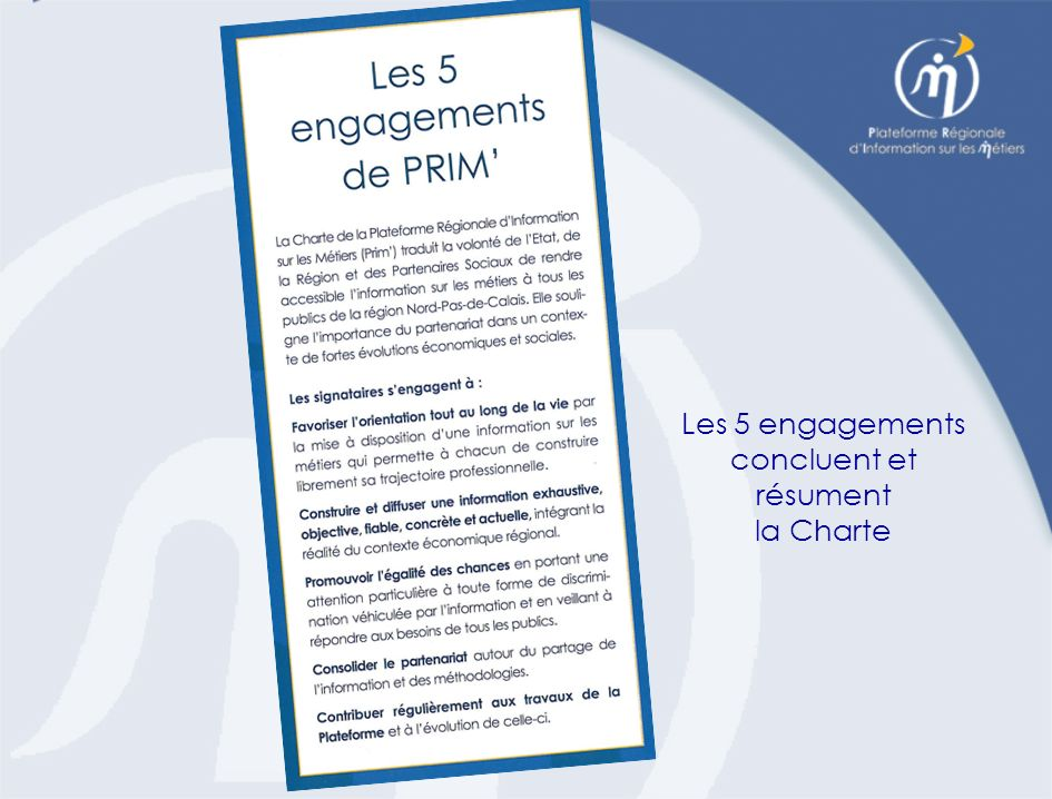 Les 5 engagements concluent et résument la Charte