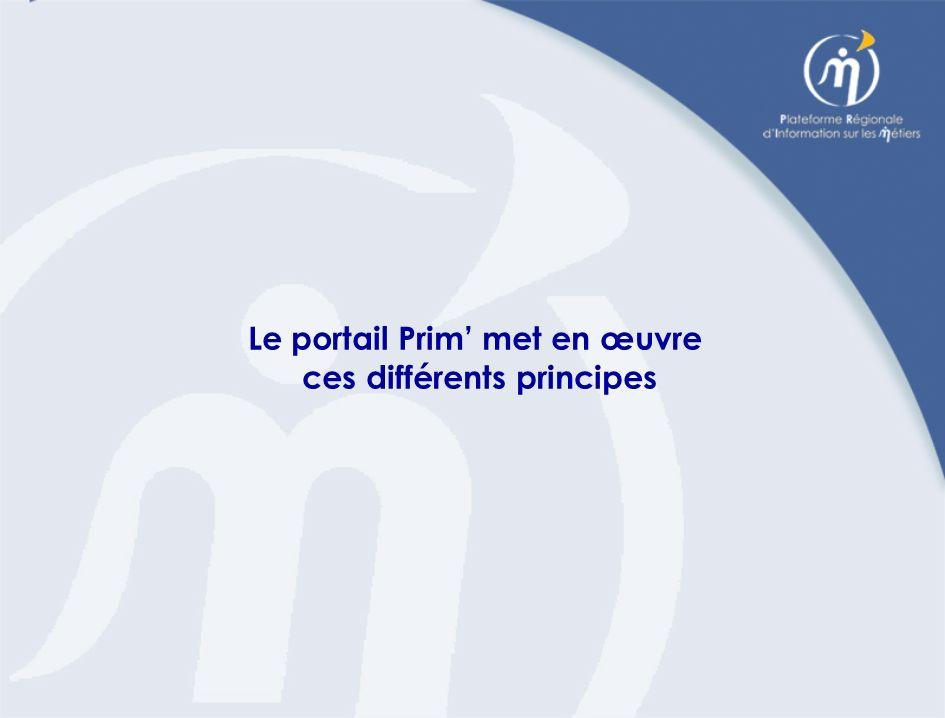 Le portail Prim met en œuvre ces différents principes