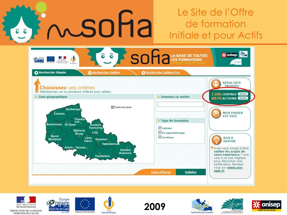 Le Site de lOffre de formation Initiale et pour Actifs 2009 Linterface de consultation www.sofia.c2rp.fr