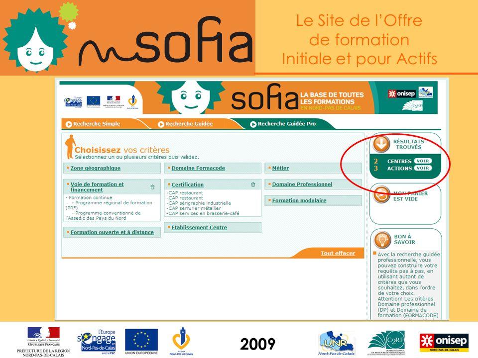 Le Site de lOffre de formation Initiale et pour Actifs 2009 x x