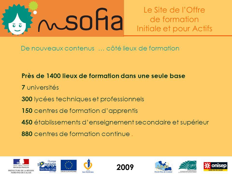 Le Site de lOffre de formation Initiale et pour Actifs 2009 Linterface de mise à jour www.sofia.c2rp.fr/saisie