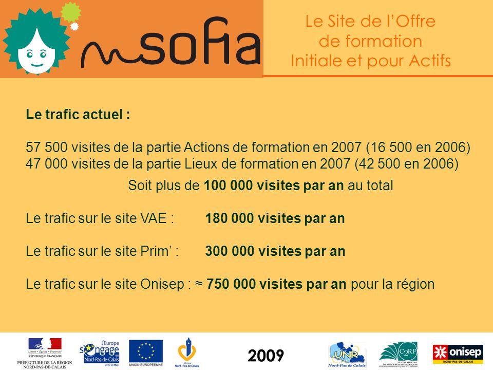 Le Site de lOffre de formation Initiale et pour Actifs 2009 En guise de conclusion : quelques chiffres de fréquentation
