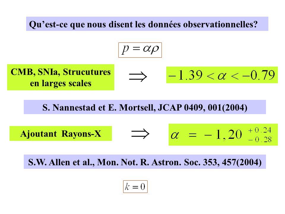 CMB, SNIa, Strucutures en larges scales S.Nannestad et E.