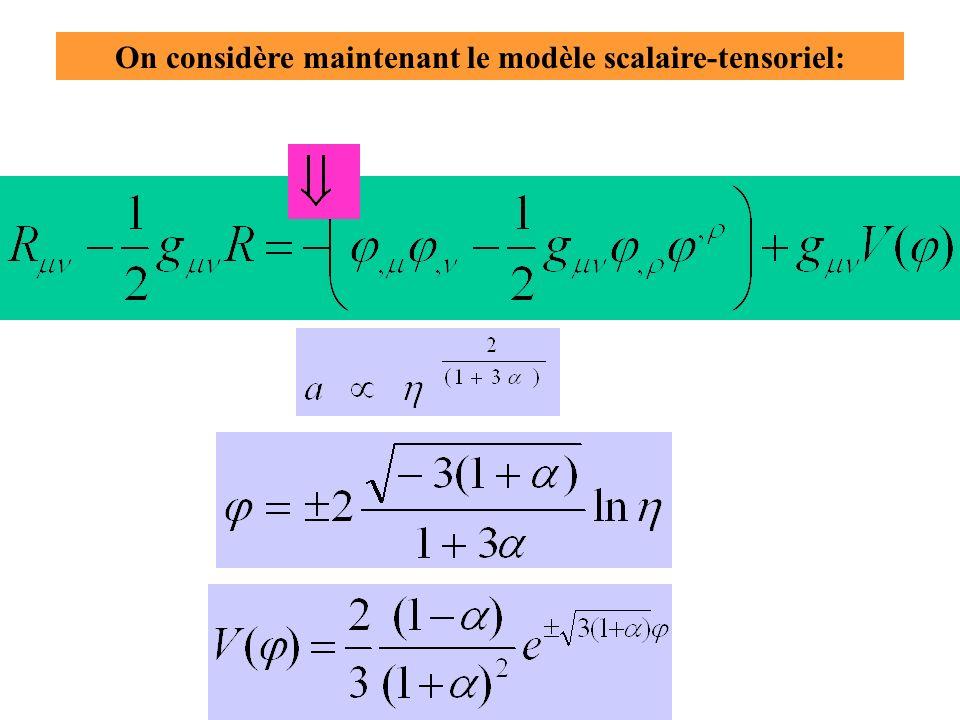 On considère maintenant le modèle scalaire-tensoriel:
