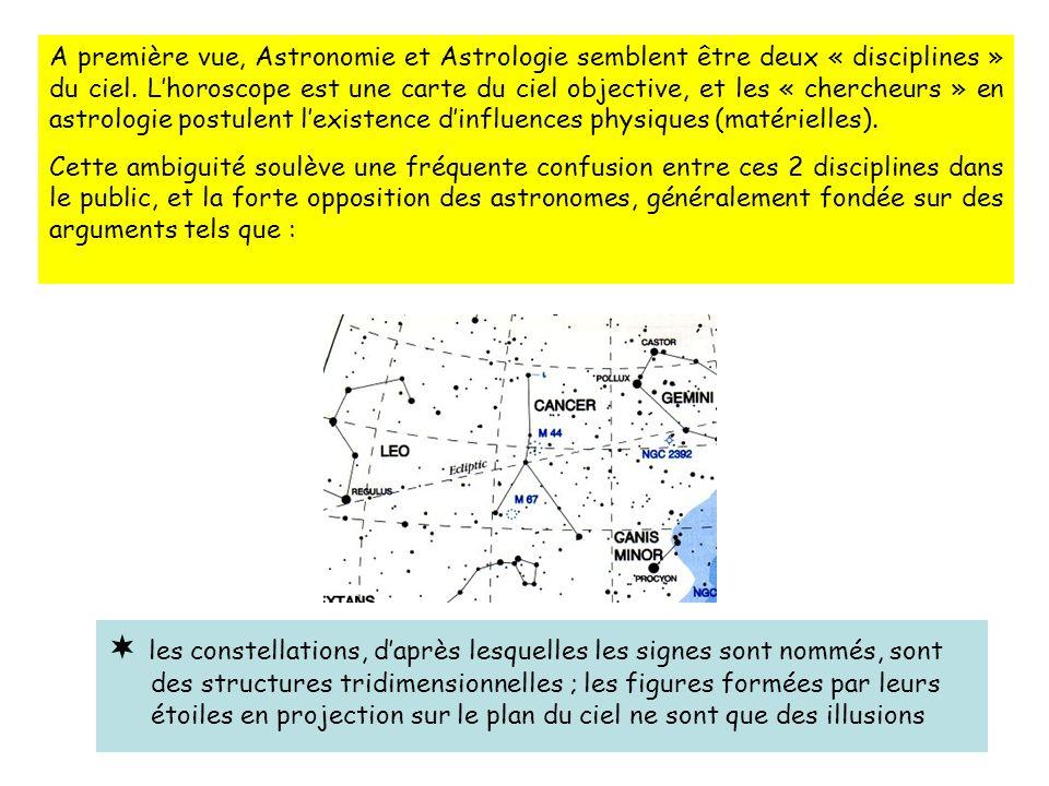 A première vue, Astronomie et Astrologie semblent être deux « disciplines » du ciel.