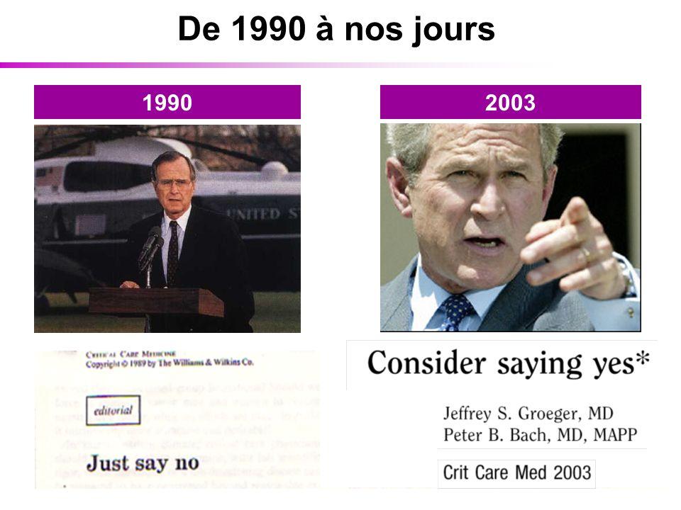 De 1990 à nos jours 19902003