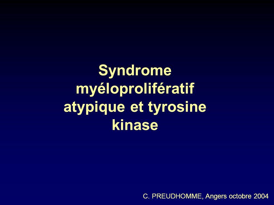 Syndrome myéloprolifératif atypique et tyrosine kinase C. PREUDHOMME, Angers octobre 2004