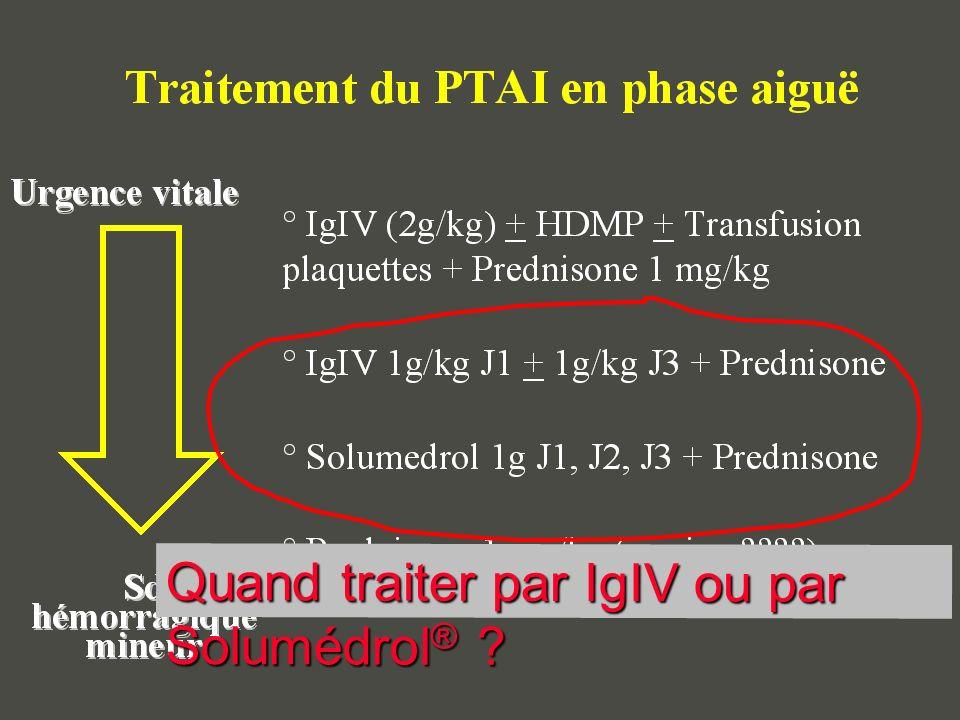 Quand traiter par IgIV ou par Solumédrol ® ?