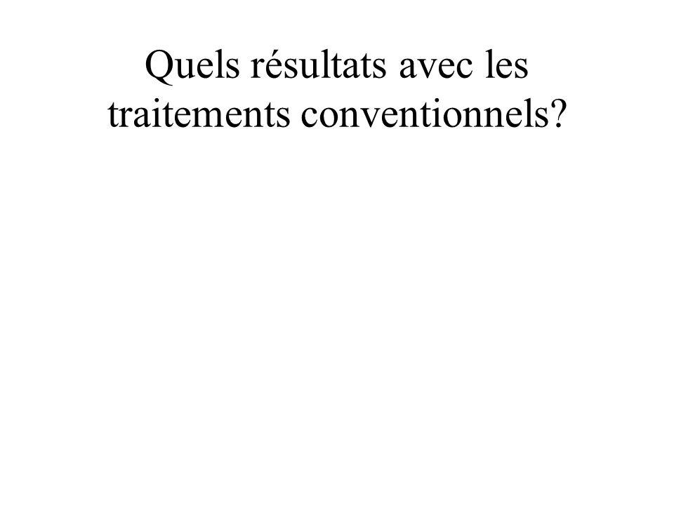 Quels résultats avec les traitements conventionnels?
