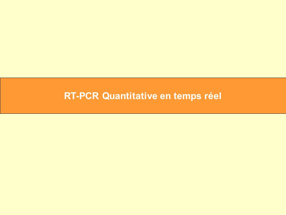 RT-PCR Quantitative en temps réel