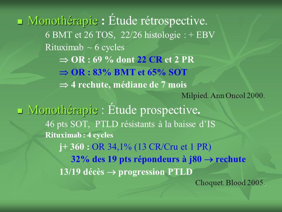 Monothérapie Monothérapie : Étude rétrospective.