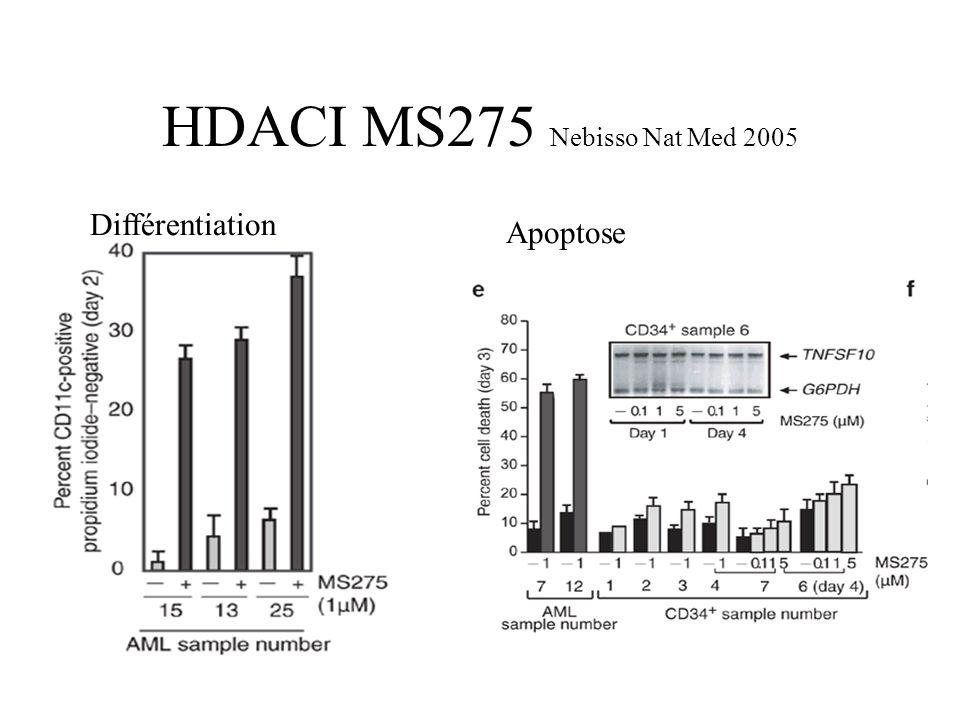 HDACI MS275 Nebisso Nat Med 2005 Différentiation Apoptose
