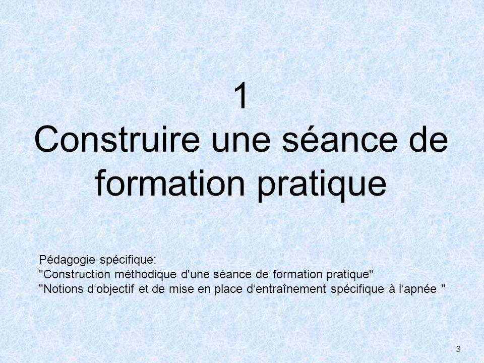 3 1 Construire une séance de formation pratique Pédagogie spécifique: