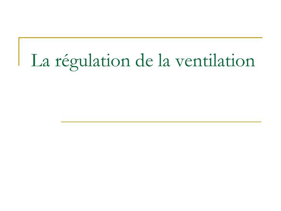La régulation de la ventilation