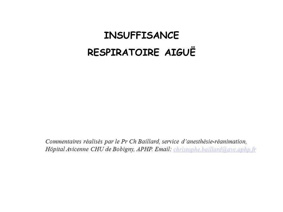 Insuffisances respiratoire chronique et aiguës : - Dans lInsuffisance Respiratoire Chronique (IRC ), la réserve cardio- respiratoire est suffisante pour assurer durablement une stabilité gazométrique.