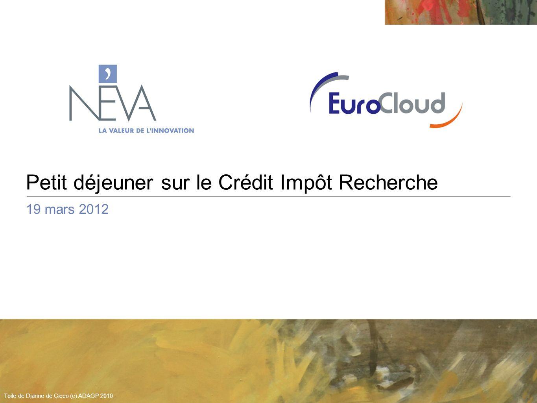 Petit déjeuner sur le Crédit Impôt Recherche 19 mars 2012 Toile de Dianne de Cicco (c) ADAGP 2010