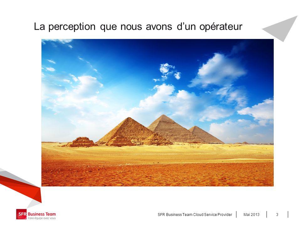 La perception que nous avons dun opérateur Mai 2013SFR Business Team Cloud Service Provider3