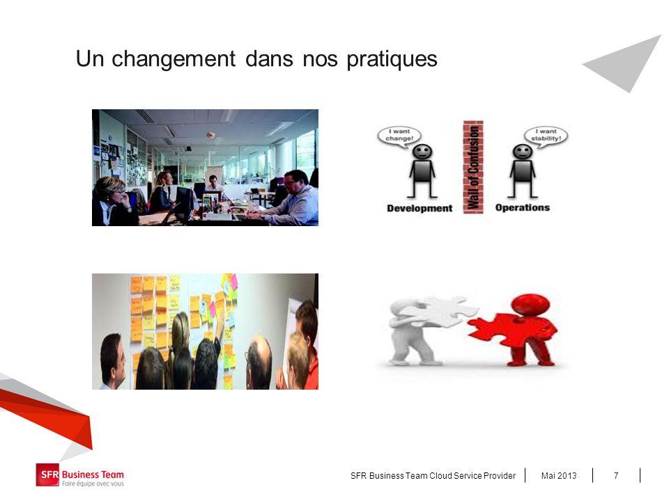 Un changement dans nos pratiques Mai 2013SFR Business Team Cloud Service Provider7