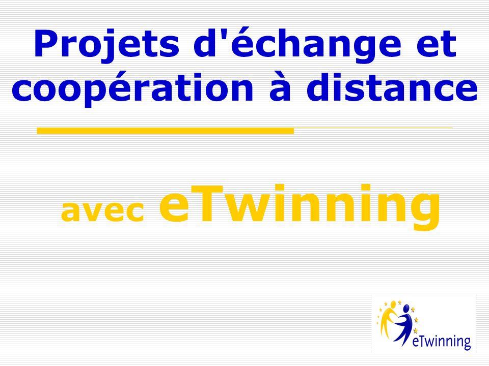 Projets d'échange et coopération à distance avec eTwinning