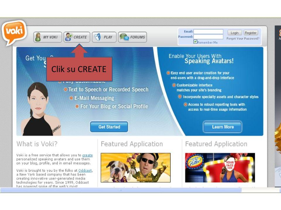 Clik su CREATE