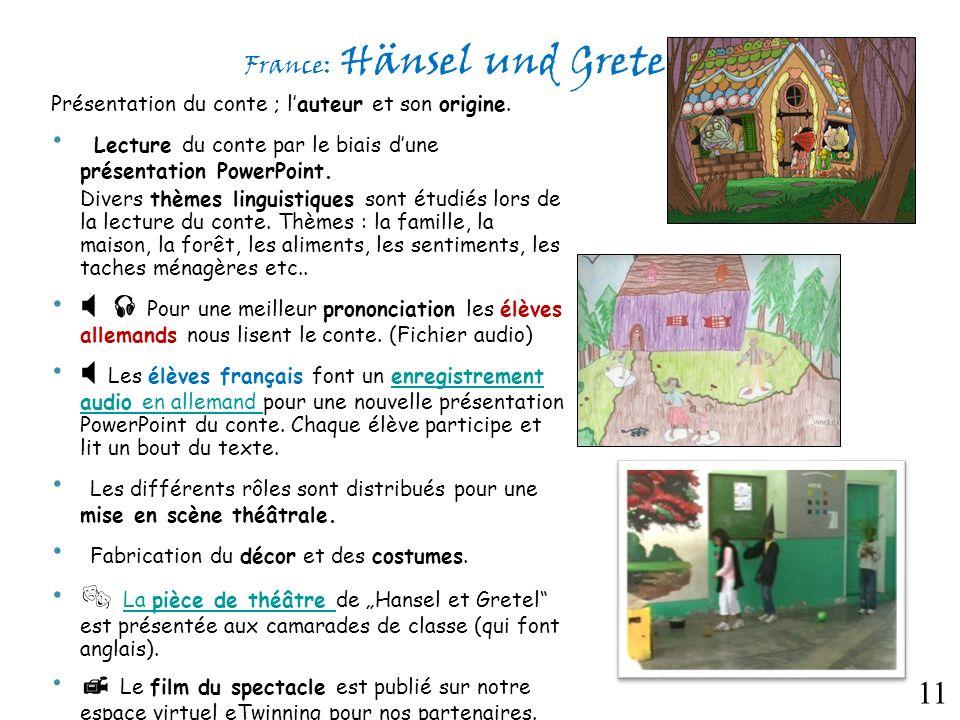 France: Hänsel und Gretel Présentation du conte ; lauteur et son origine.