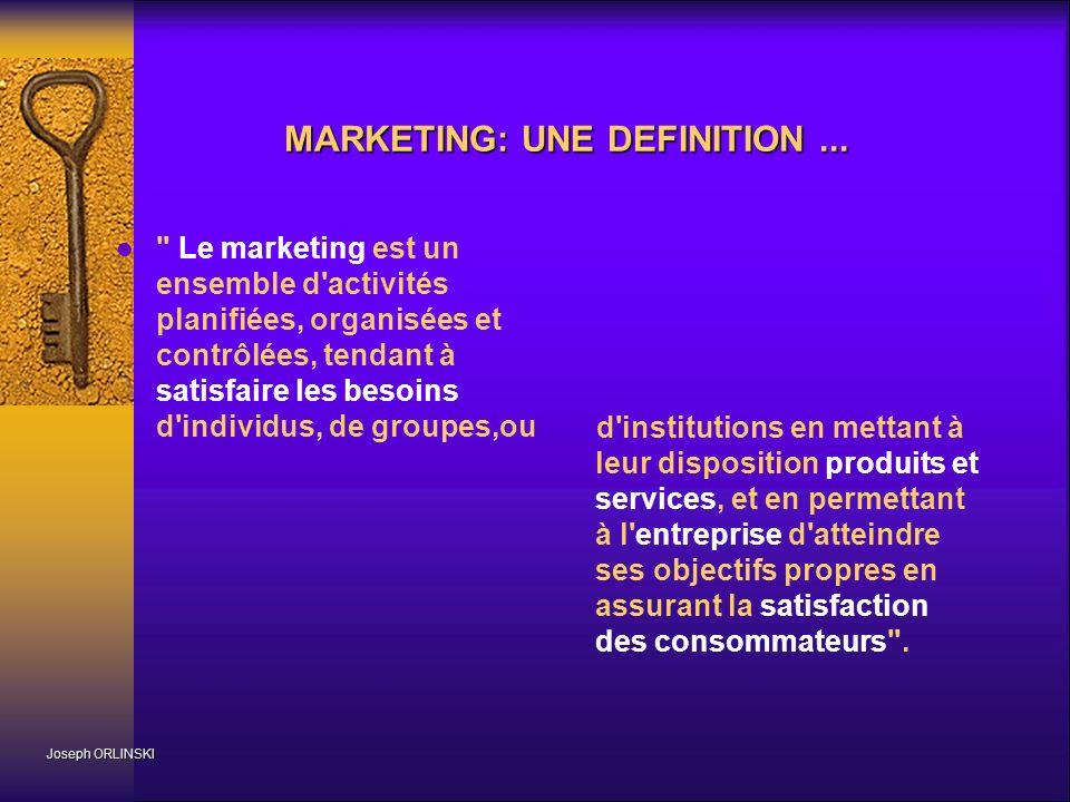 Le marketing dans l entreprise Joseph ORLINSKI