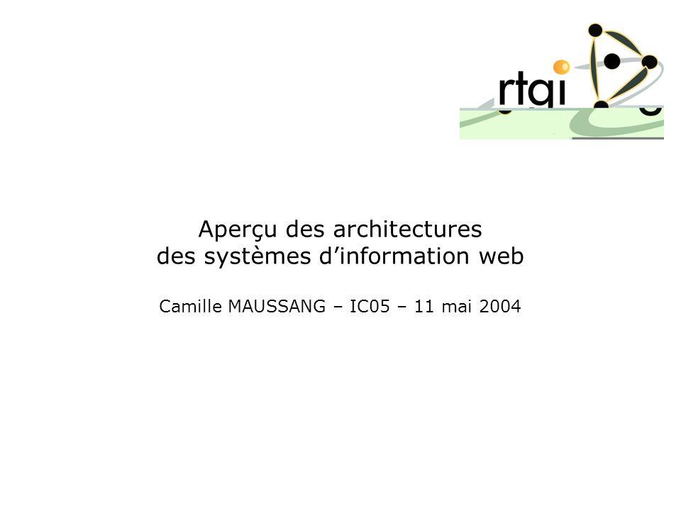 Aperçu des architectures des systèmes dinformation web Camille MAUSSANG – IC05 – 11 mai 2004