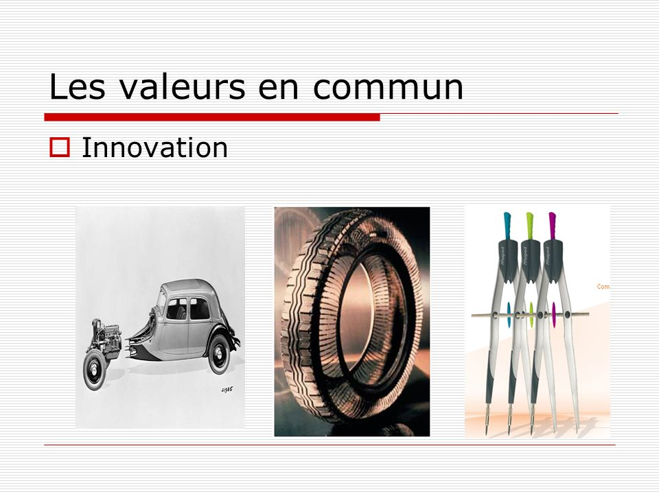 Les valeurs en commun Innovation