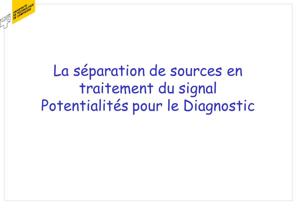 La séparation de sources en traitement du signal Potentialités pour le Diagnostic