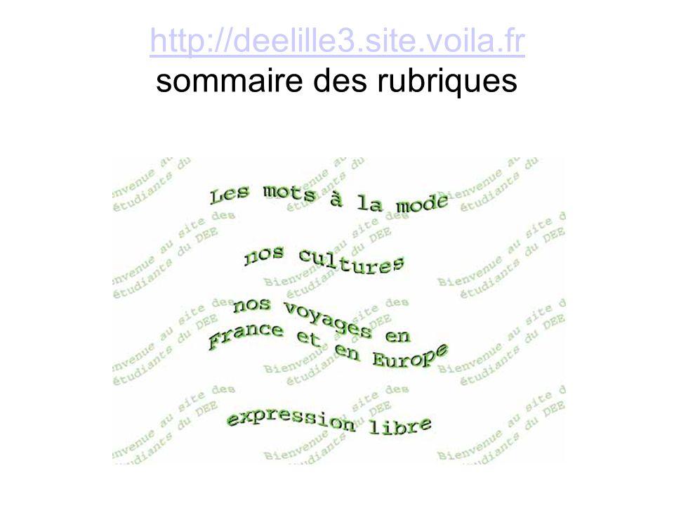 http://deelille3.site.voila.fr http://deelille3.site.voila.fr sommaire des rubriques