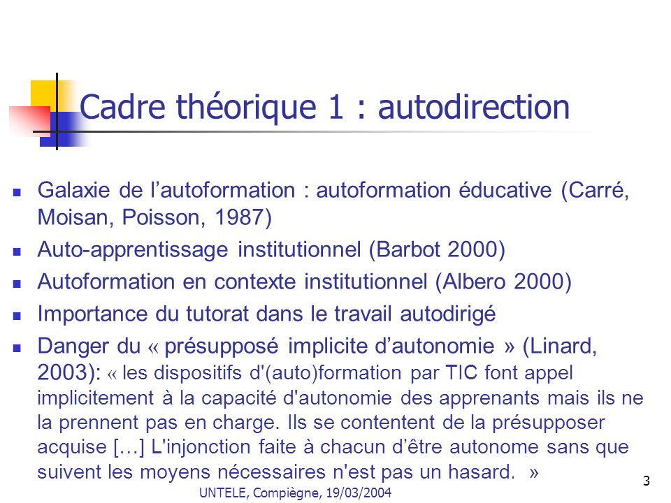 4 Cadre théorique 2 : apprentissage collaboratif assisté par ordinateur (ACAO) CSCL en anglais Champ pluridisciplinaire Problème du paradigme, quantitatif ou qualitatif Le « C » dACAO = collaboratif ou collectif .