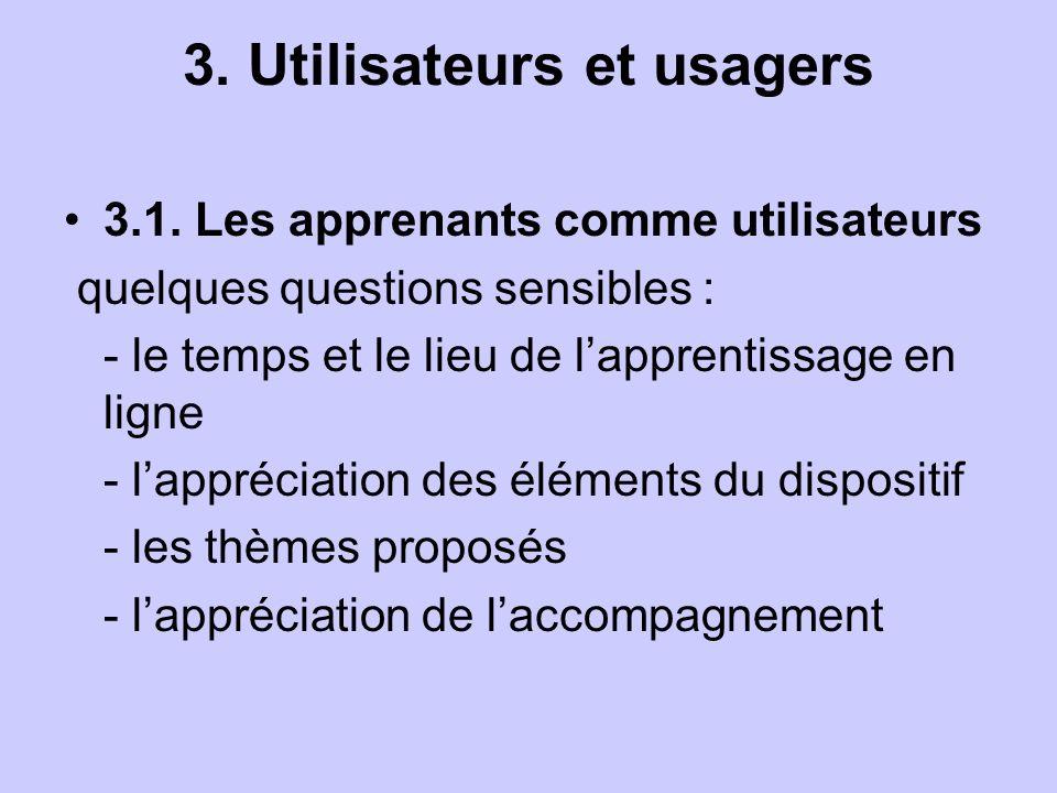3. Utilisateurs et usagers 3.1.