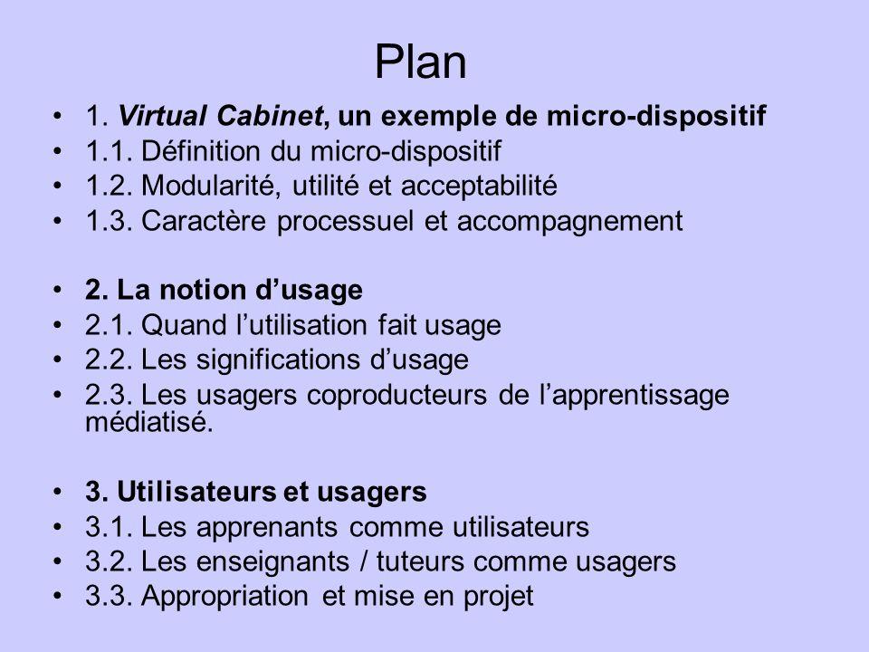 1.Virtual Cabinet, un exemple de micro-dispositif 1.1.