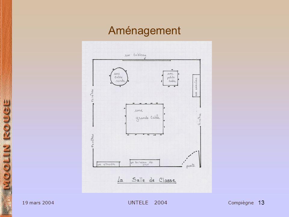 13 19 mars 2004 UNTELE 2004 Compiègne Aménagement