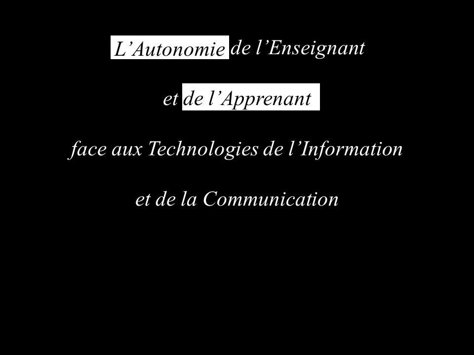 de lEnseignant et de lApprenant face aux Technologies de lInformation et de la Communication