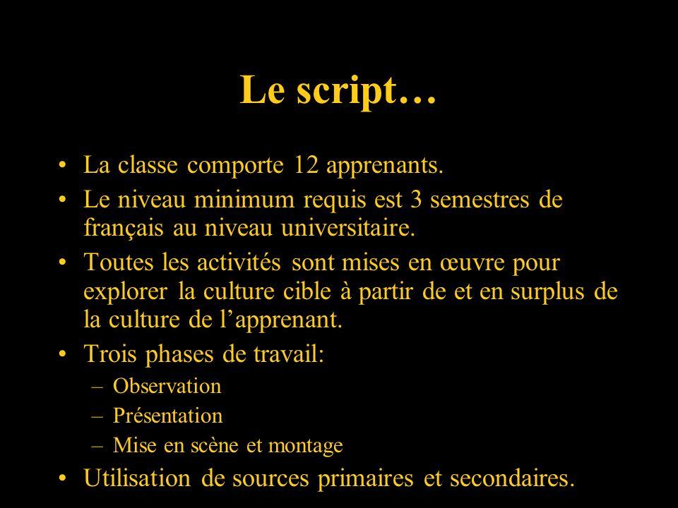 Le studio… Classe de langues spécifiquement dédiée aux travaux de collaborations.