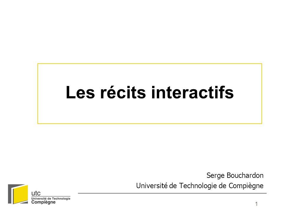 12 Document hypertexte Accéder Jeu vidéo Simulation Manipuler Récit interactif Produire Net art Œuvre collaborative Frontières du récit interactif 1 - Typologie des récits interactifs