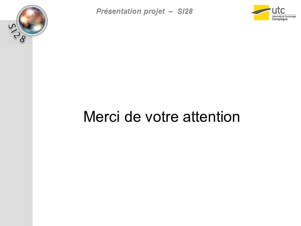 Présentation projet – SI28 Merci de votre attention