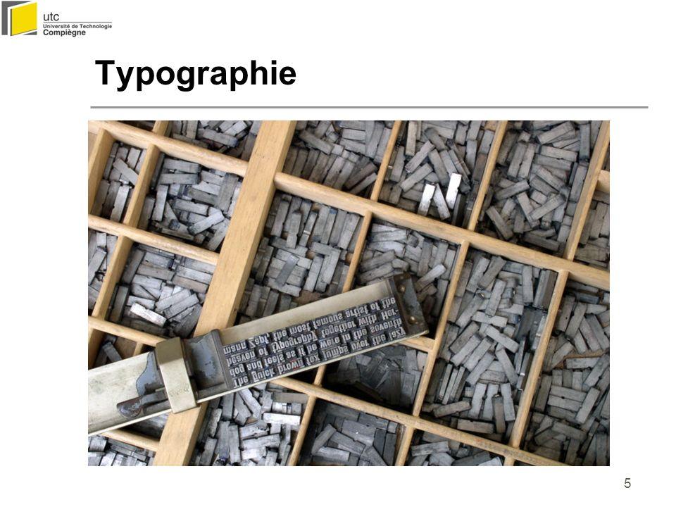 16 Texte animé Affichage dynamique : guide l ordre de lecture Prévoir un temps d affichage suffisant et éventuellement un moyen de contrôle (stop, marche) Clignotement : seulement pour message d alerte, doit pouvoir être annulé contre-exemple : http://www.yhchang.com/SVDJ.html http://www.yhchang.com/SVDJ.html Vidéo « Typolution »Typolution John Lycette : Not my type (http://www.lycettebros.com/notmytype) Critères d utilisation du texte