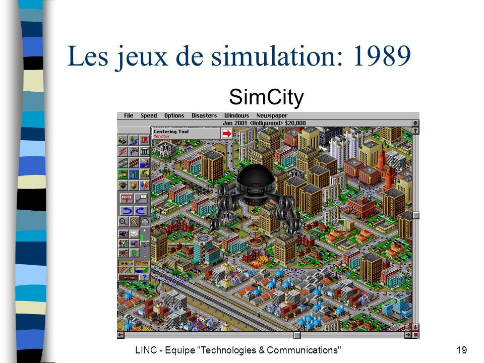 LINC - Equipe Technologies & Communications 20 Les jeux de simulation: 1996 Warcraft II