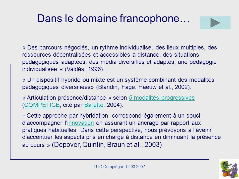 UTC Compiègne 12.03.2007 Quelques définitions ….