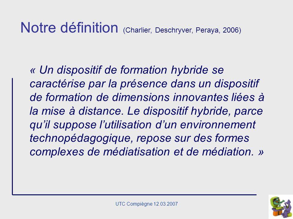 UTC Compiègne 12.03.2007 des parcours négociés, selon une triple origine de la demande, personnelle, sociale et professionnelle ; des unités de lieux