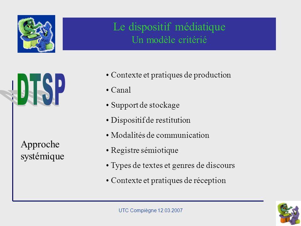 UTC Compiègne 12.03.2007 La communication éducative médiatisée A la recherche d une articulation SémiopragmatiquePsychologie cognitive Sémiotique cogn