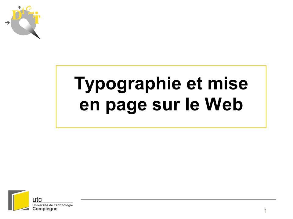 1 Typographie et mise en page sur le Web